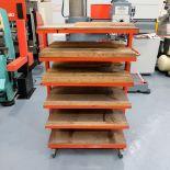 Press Brake Tooling Rack on Wheels. 6 Shelves.