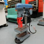 "Meddings Drilltru DTF Bench Drill. Capacity 1/2"". Table Size 9"" x 11""."