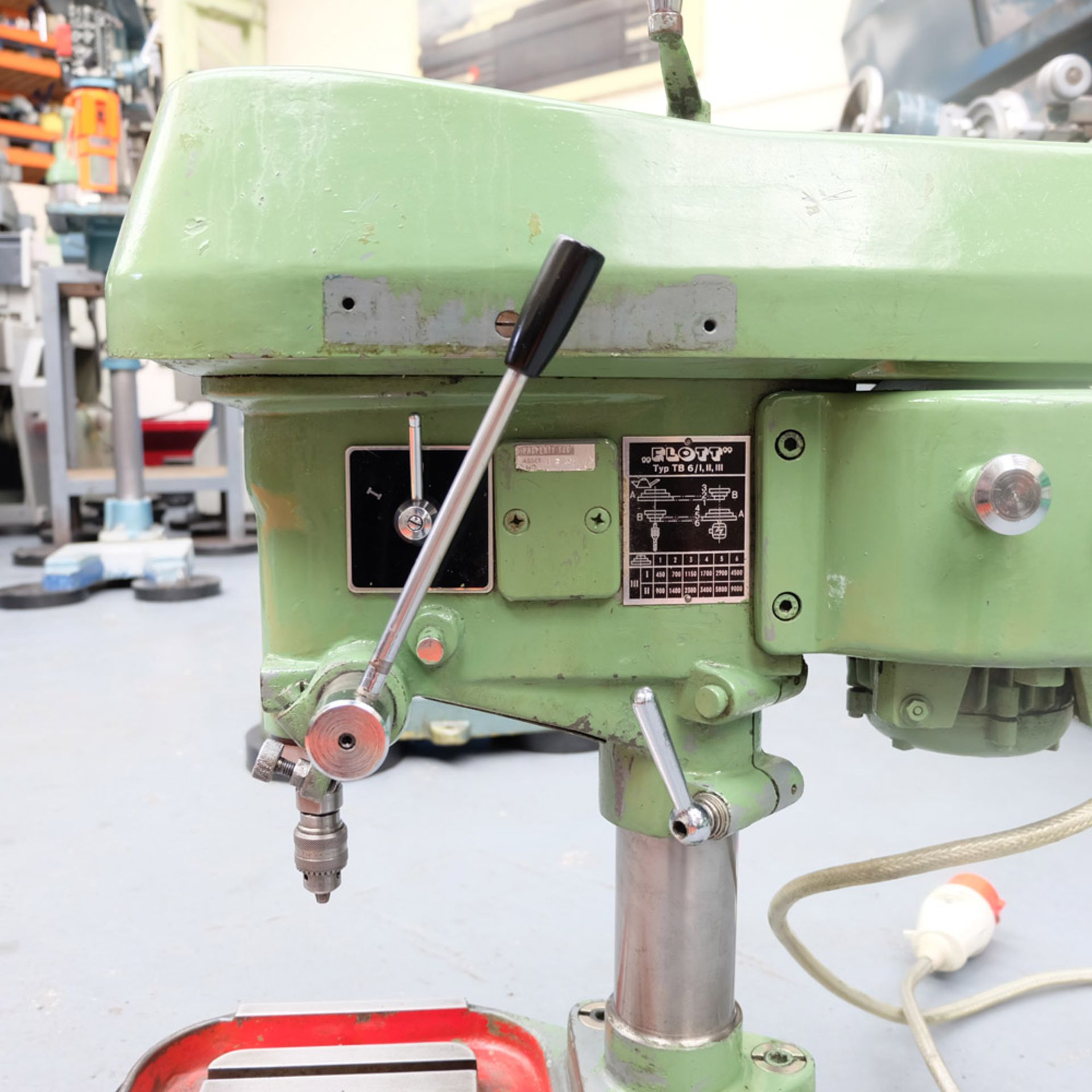 "Flott Type TB6 High Speed Bench Drill. Throat 6 1/2"". Capacity 1/4"". - Image 2 of 4"