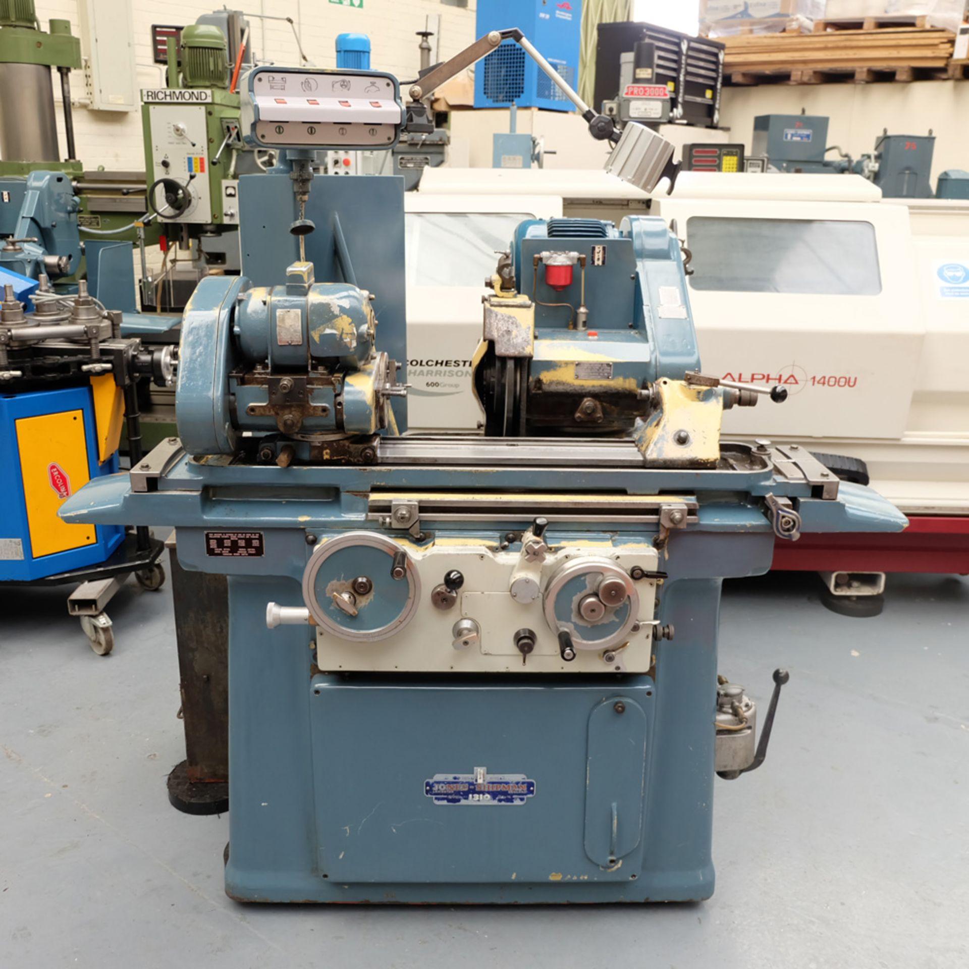 "Jones & Shipman Model 1310 EIU Universal Cylindrical Grinder. Capacity 18"" x 8""."