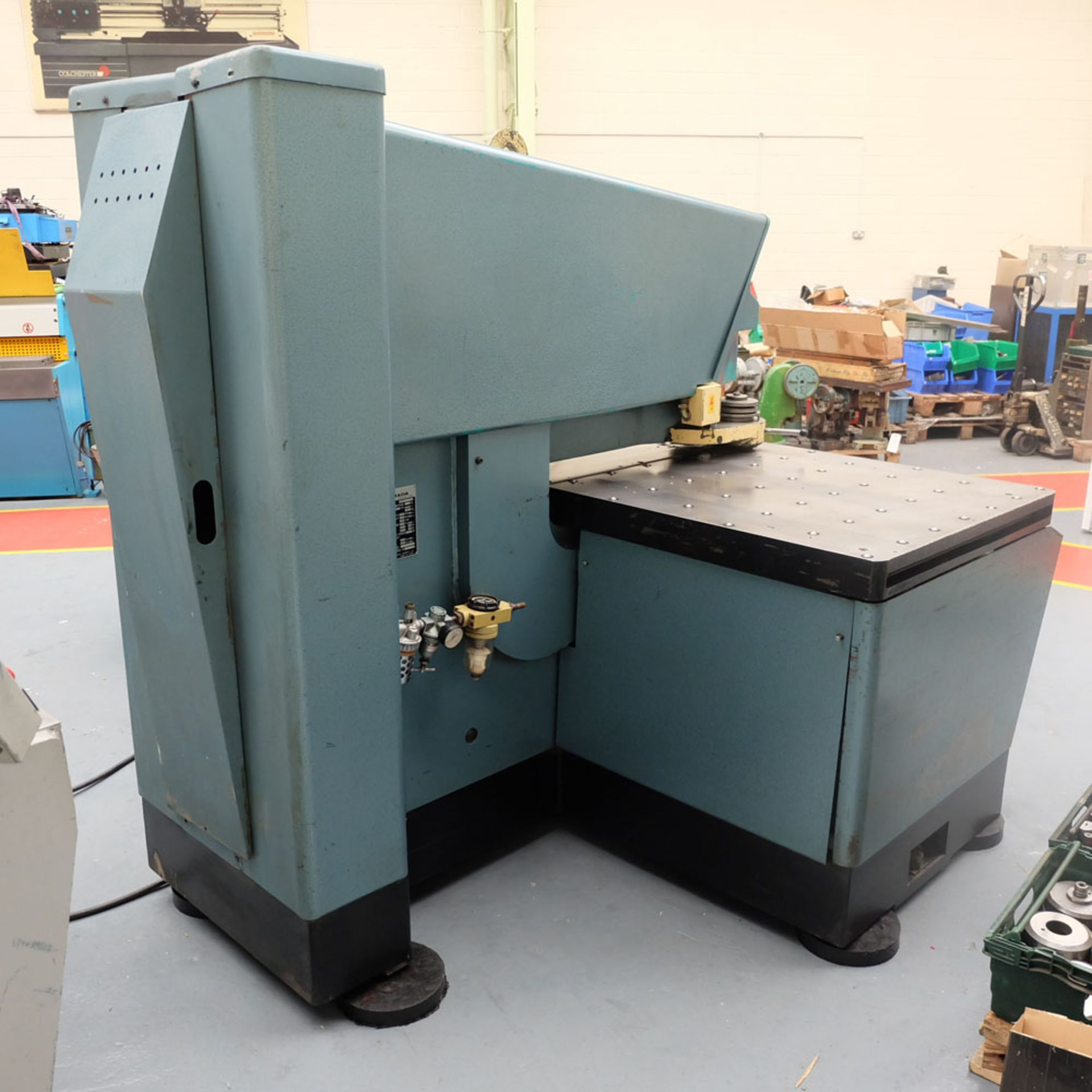 Amada D-750 Duplicator Punching Machine with Tooling and Digital Readout. - Image 6 of 8
