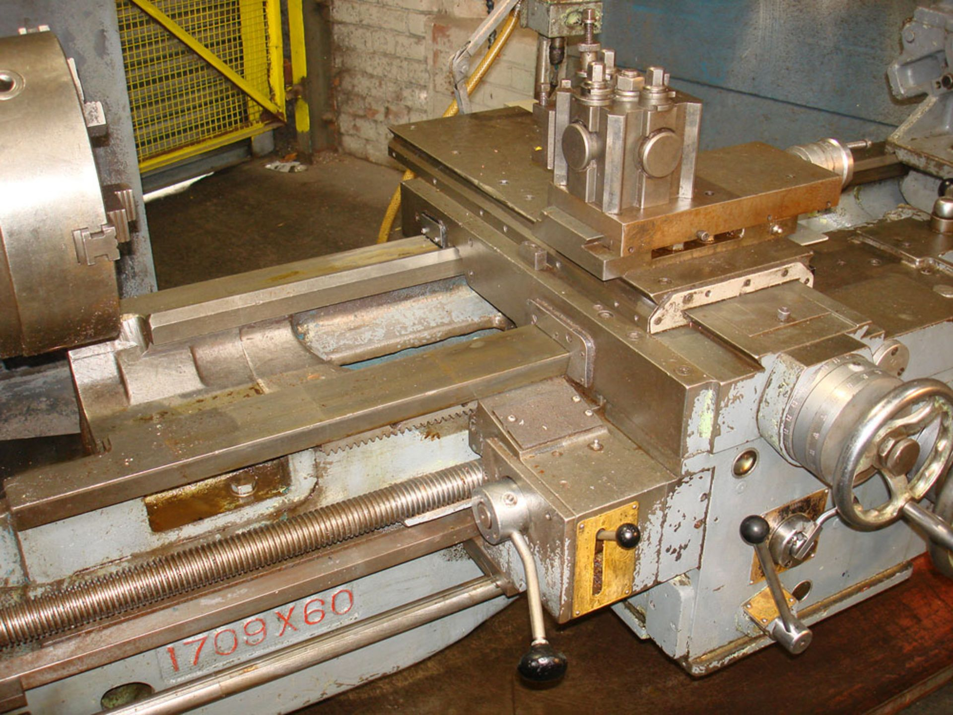 """Dean Smith & Grace 1709 Gap Bed Centre Lathe. Swing 17"""" Over Bed. 50"""" Between Centres. - Image 4 of 5"""