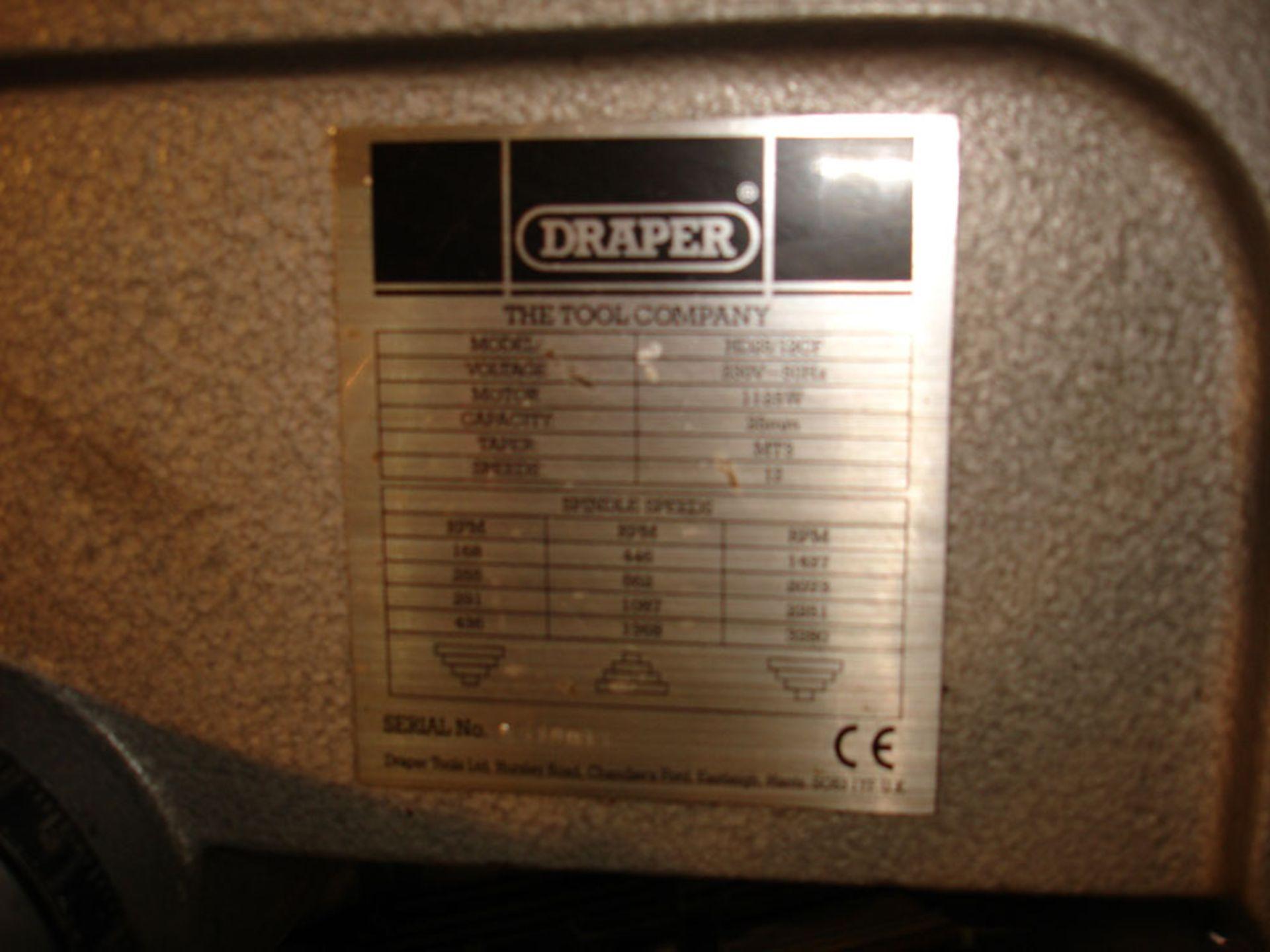 Draper Pillar Drill. Capacity 25 mm. 3 Morse Taper. - Image 5 of 5