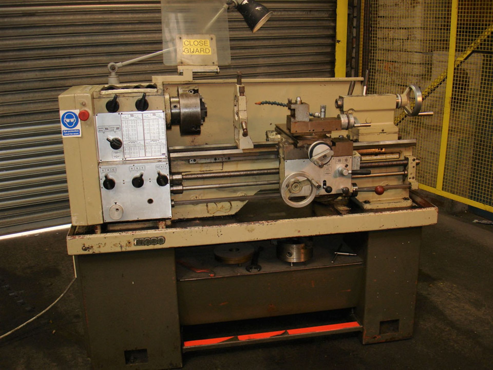 Harrison M300 Gap Bed Centre Lathe. Swing Over Bed 330 mm. Distance Between Centres 635mm.