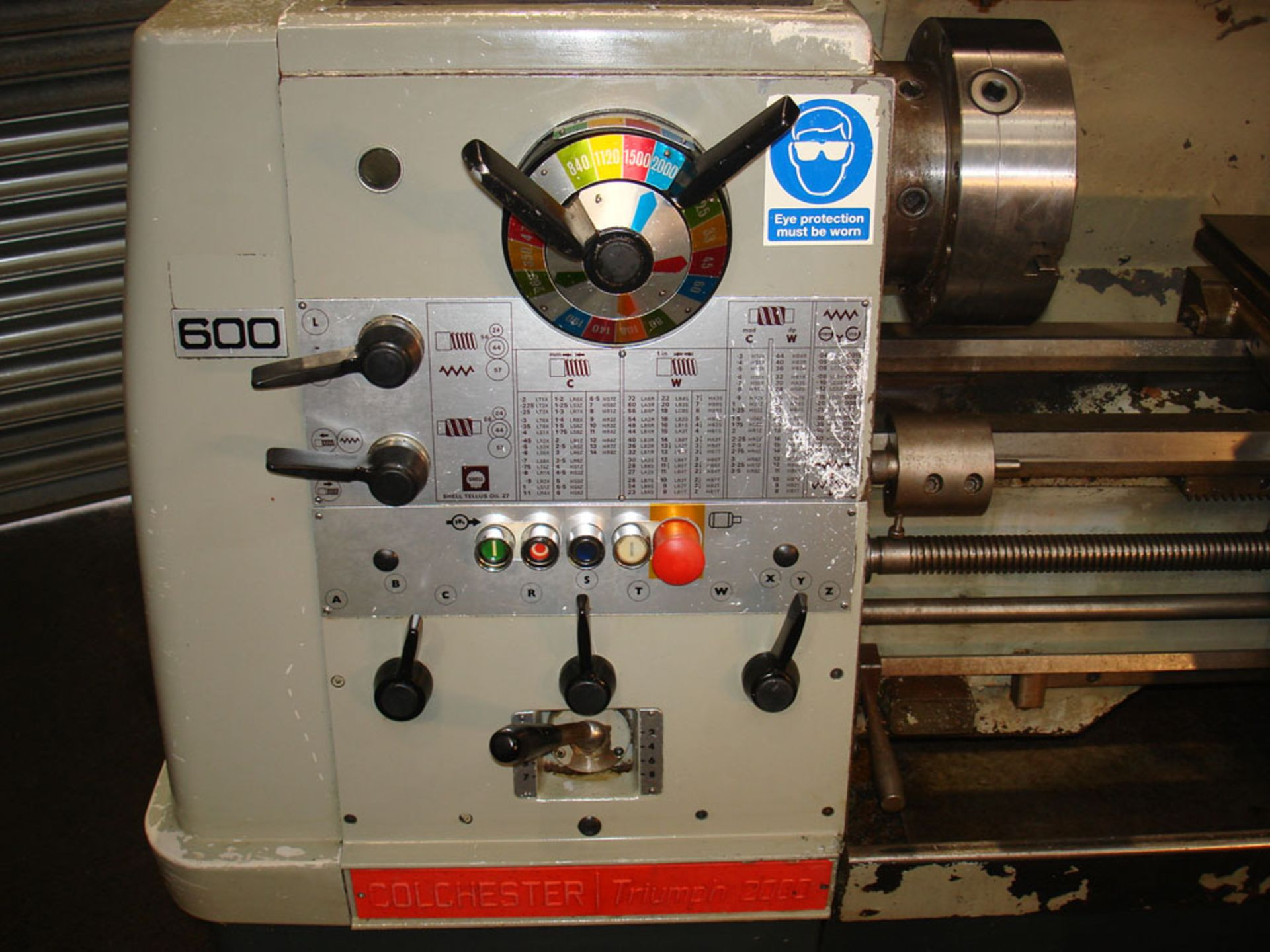 Colchester Triumph 2000 Straight Bed Centre Lathe. Swing 390mm x 1250 Between Centres. - Image 4 of 5
