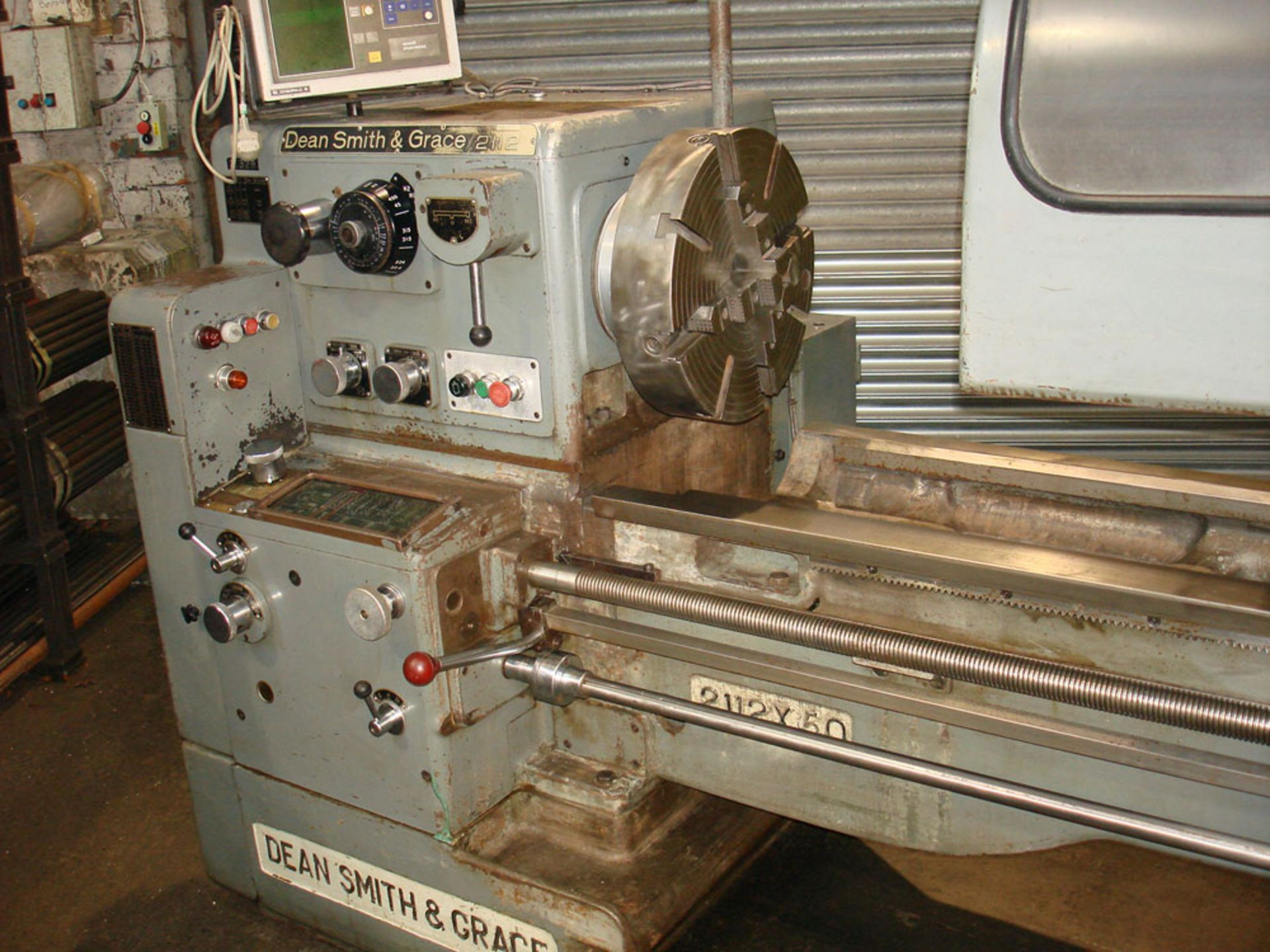 """Dean Smith & Grace 2112 x 50 Gap Bed Centre Lathe. Swing Over Bed 21"""". Distance Between Centres 50"""". - Image 7 of 9"""