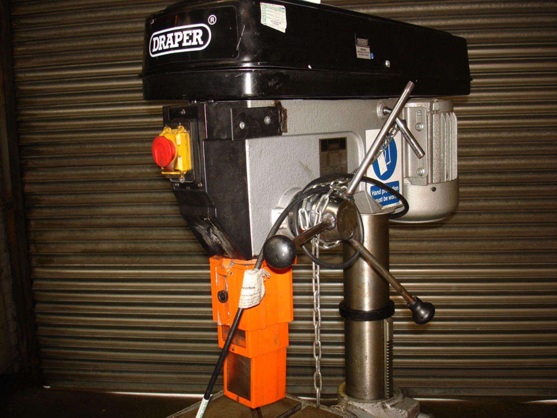Draper Pillar Drill. Capacity 25 mm. 3 Morse Taper. - Image 2 of 5