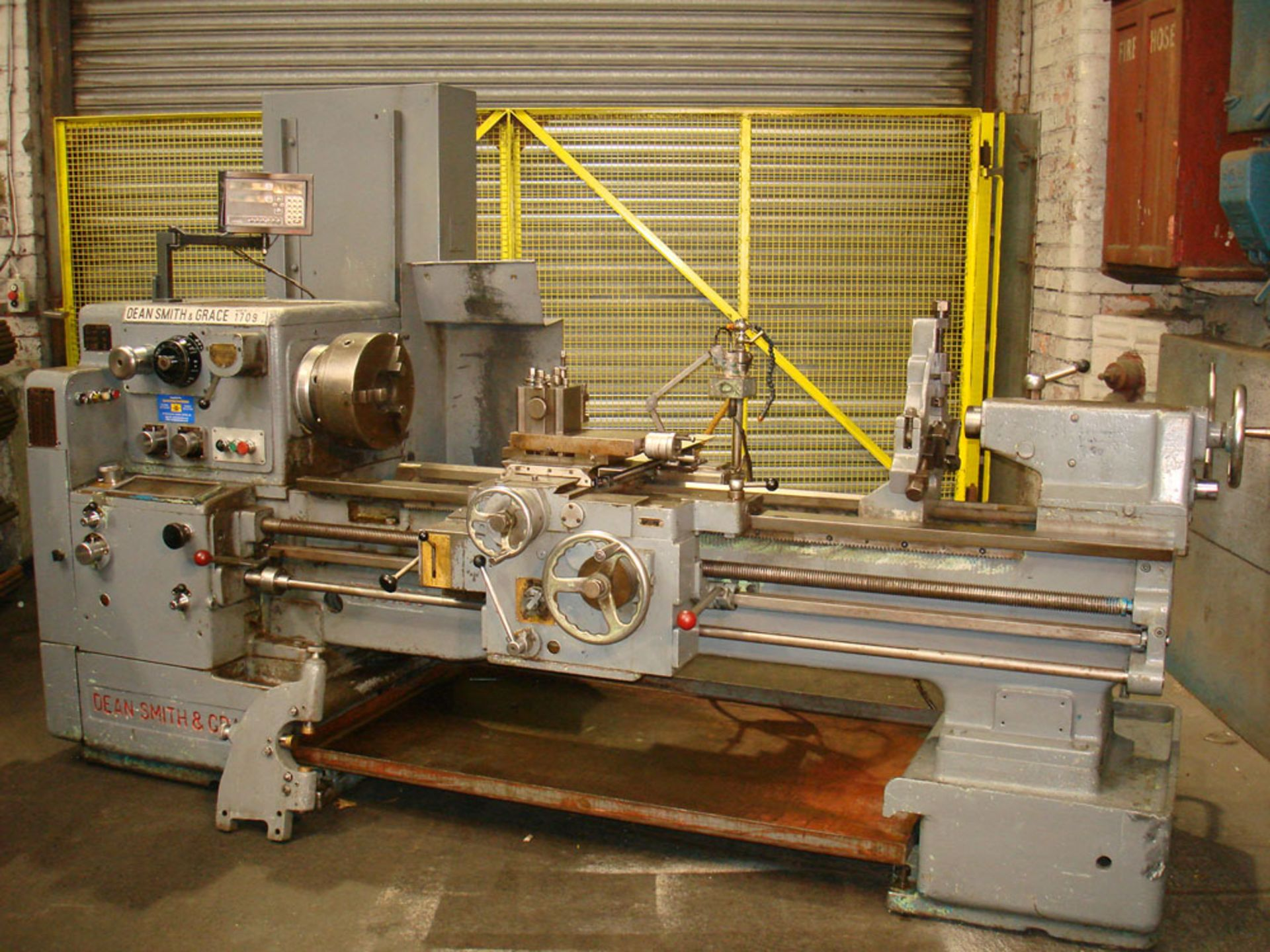 """Dean Smith & Grace 1709 Gap Bed Centre Lathe. Swing 17"""" Over Bed. 50"""" Between Centres."""