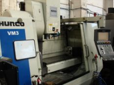 HURCO VM3 Vertical Machining Centre. Year 2008. Hurco Max Control. Table Size 1321 x 457 mm.