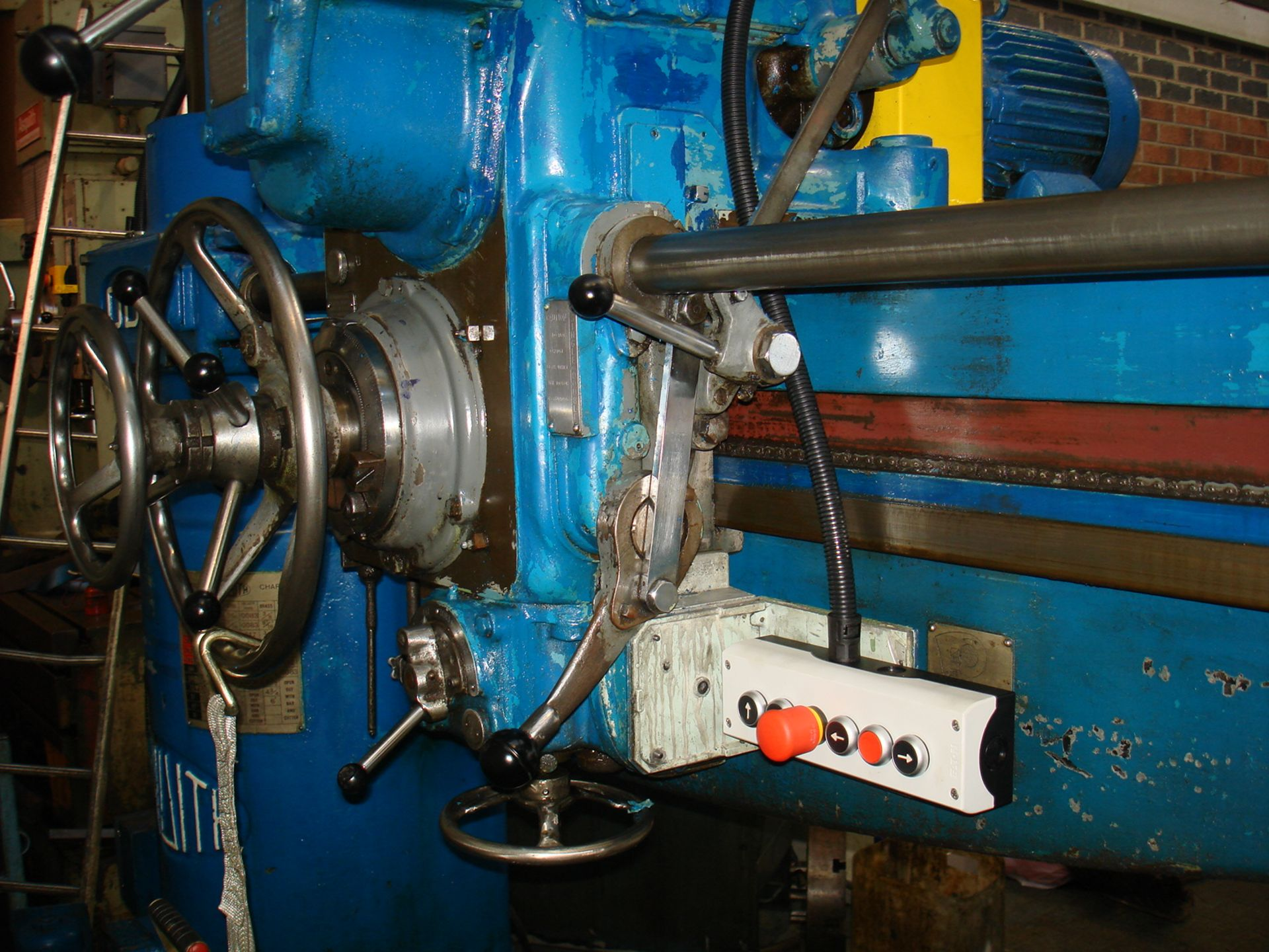 Asquith OD1 6ft Radial Arm Drill. Arm lenght 6ft. Spindle 5 Morse Taper. Speeds 8-800rpm. Box Table. - Image 5 of 7