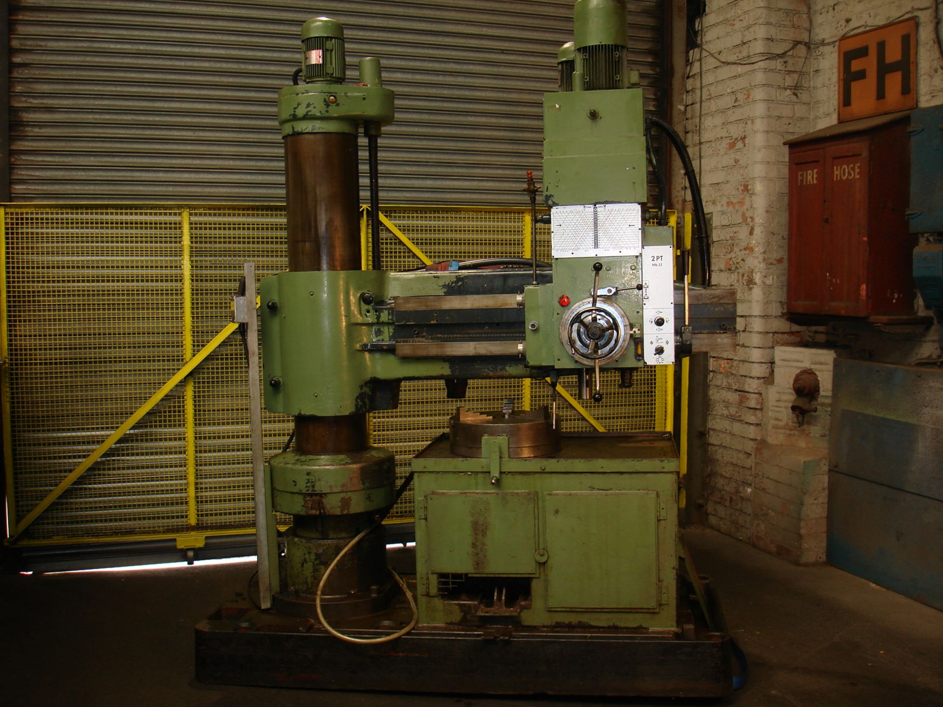 """Asquith Power thrust 4ft 6 Radial Arm Drill. Arm length 4ft 6""""."""
