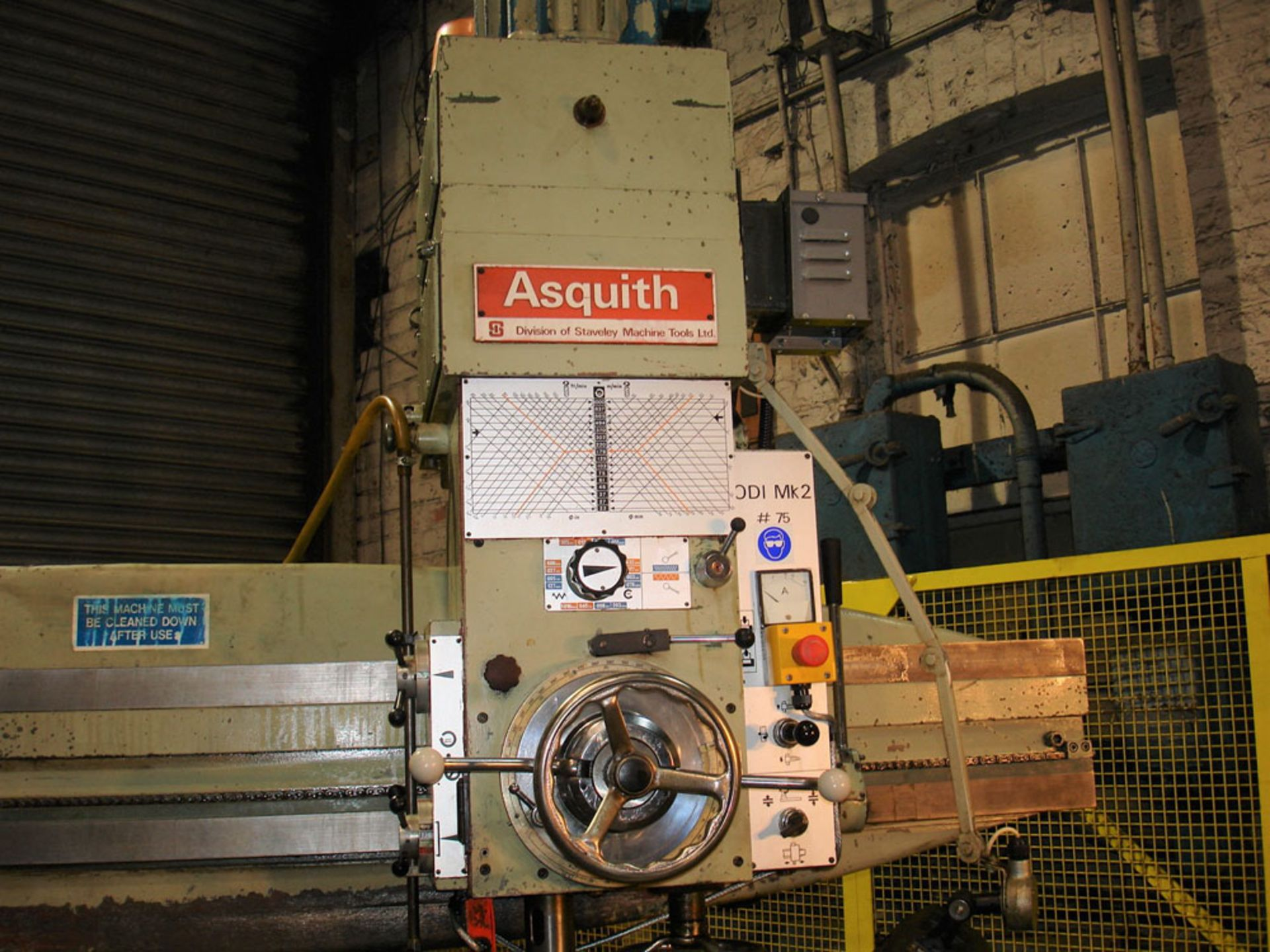 Asquith OD1 MK2 16/72 Radial Arm Drill. Arm Length 6ft. Spindle 5 Morse Taper. - Image 2 of 7