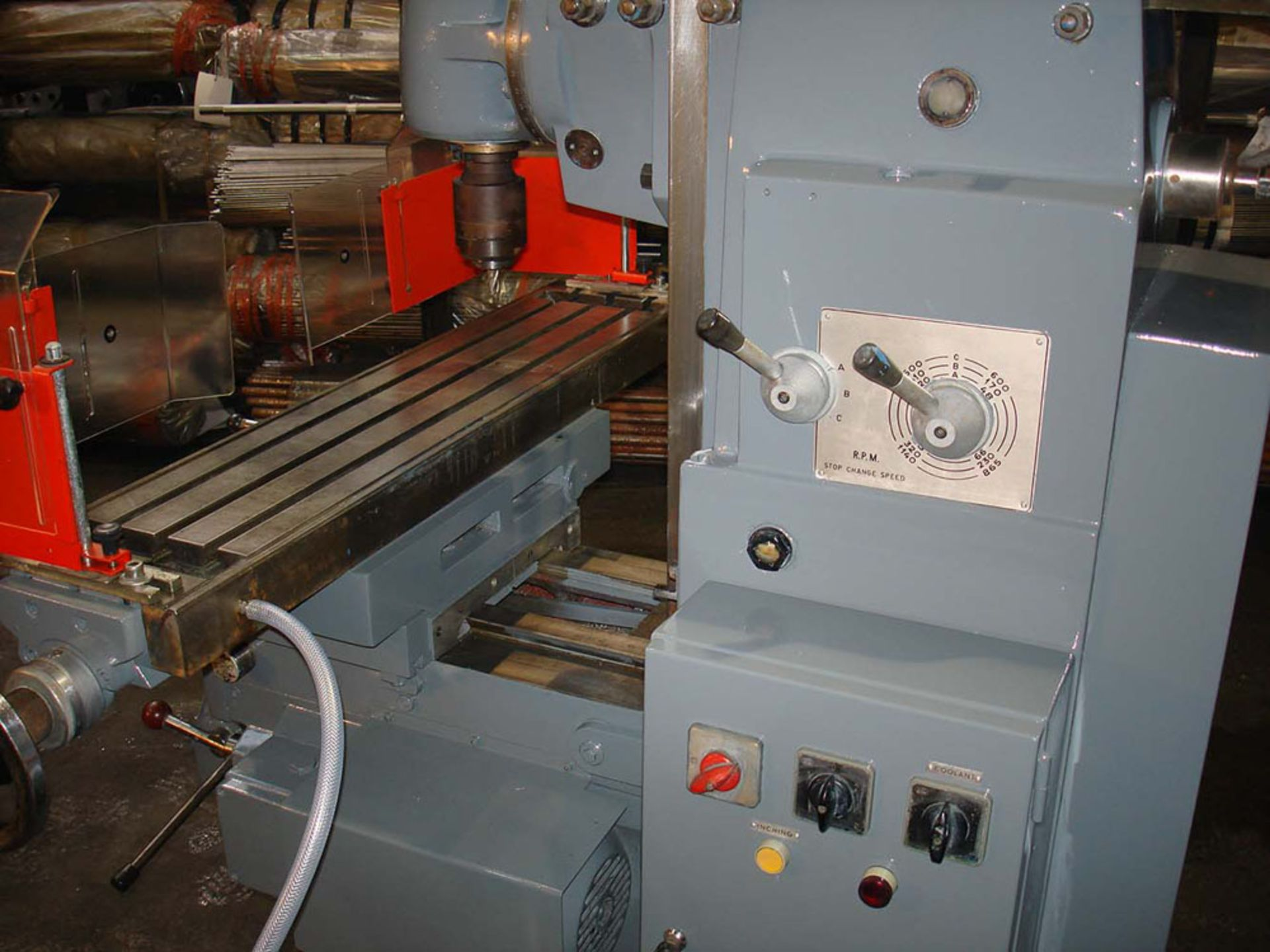 Ajax Model UP Universal Milling Machine. Table 1100 x 240mm. Long Traverse 750mm. - Image 4 of 6