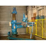 Asquith OD1 6ft Radial Arm Drill. Arm lenght 6ft. Spindle 5 Morse Taper. Speeds 8-800rpm. Box Table.