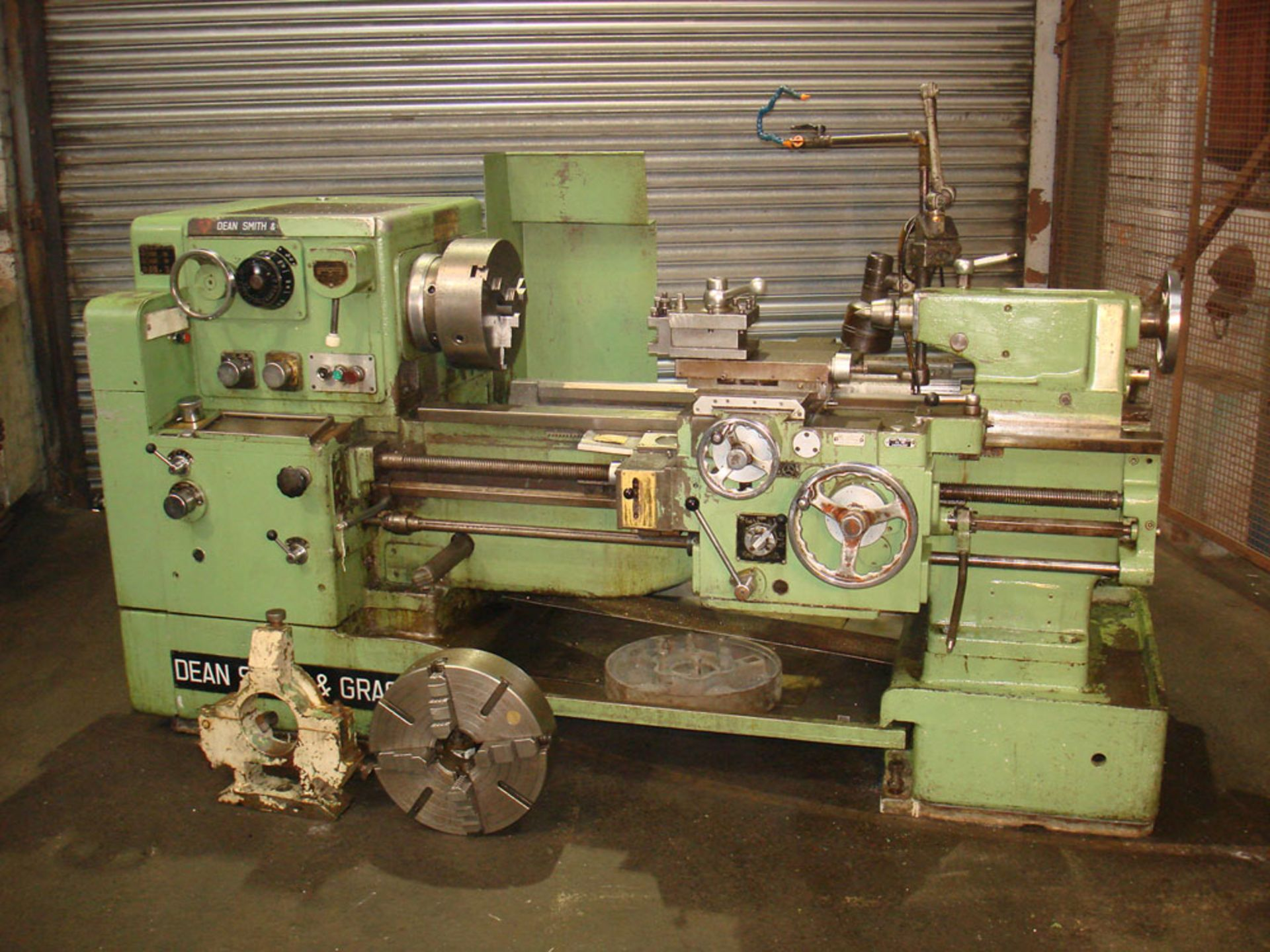 """Dean Smith & Grace 1709 Centre Lathe. Swing 17"""" Over Bed. 40"""" Between Centres."""