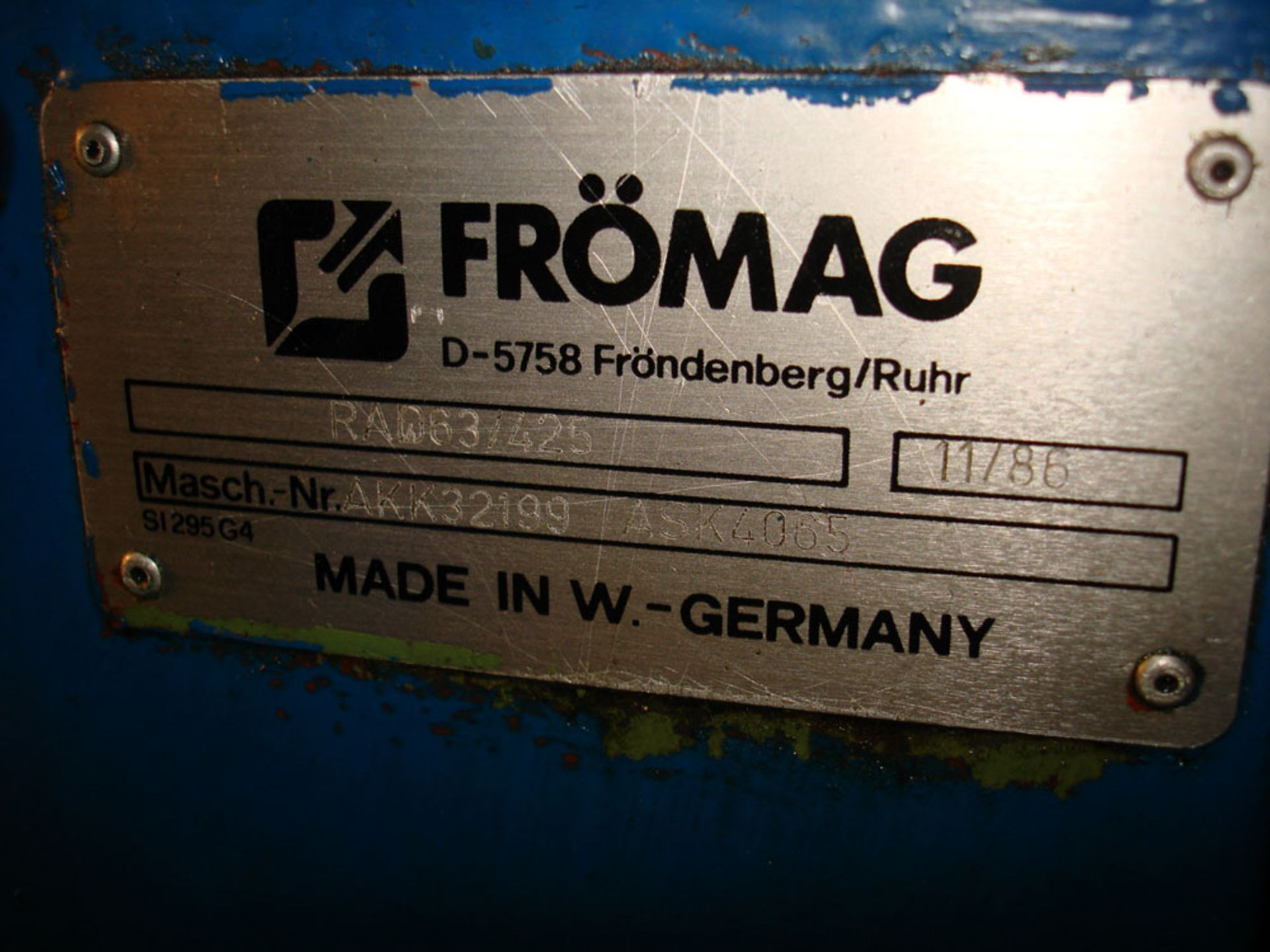 Fromag Rapida RAD 63/425 Broach / Key Seater. New 1986. Pendant Control. - Image 10 of 10