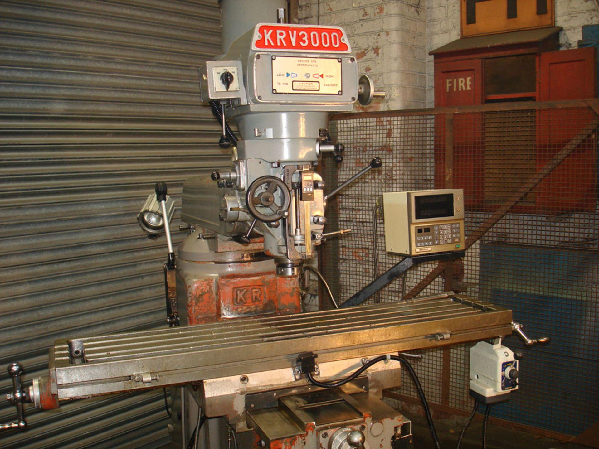 KRV 3000 SLV Turret Milling Machine. Table Size 1473 x 305mm. - Image 2 of 7