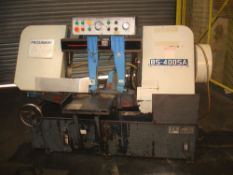 Mega BS 400 SA Horizontal Semi Automatic Bandsaw. Capacity 400mm. D.O.M 2012.