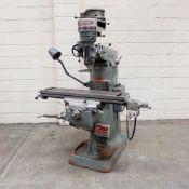 "Bridgeport J Type Turret Milling Machine. Table Size 42"" x 9""."