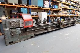 """Swift Type 11B SS and SC Centre Lathe. Between Centres 25'. Swing Over Bed 22""""."""