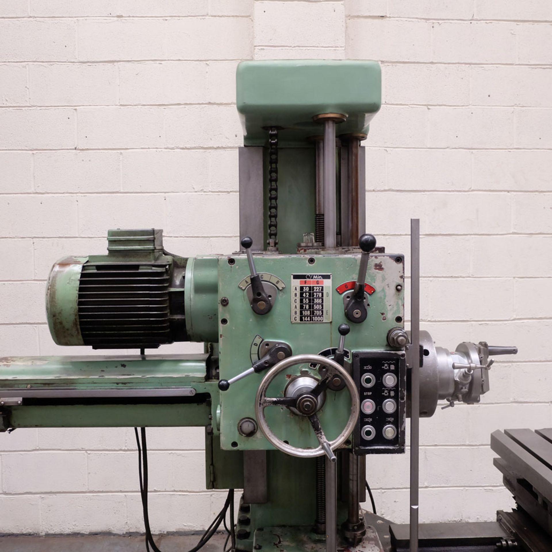 Juaristi Model MDR-55 Horizontal Boring Machine. Spindle Size: 55mm Dia. Spindle Bore: No.4 MT. - Image 3 of 14