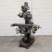 """Woodhouse Mitchell 3H Turret Milling Machine. Table Size 36"""" x 9""""."""