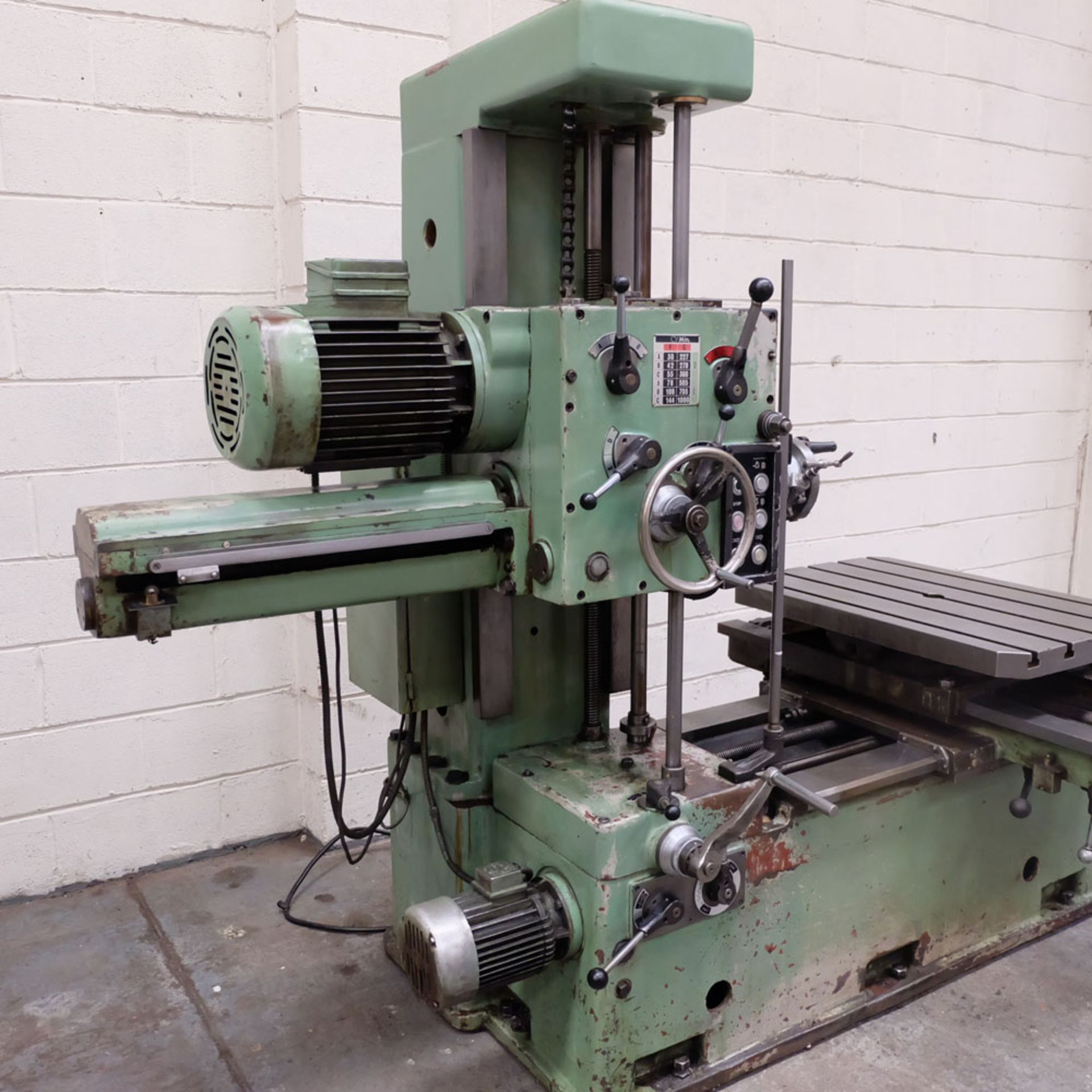 Juaristi Model MDR-55 Horizontal Boring Machine. Spindle Size: 55mm Dia. Spindle Bore: No.4 MT. - Image 2 of 14