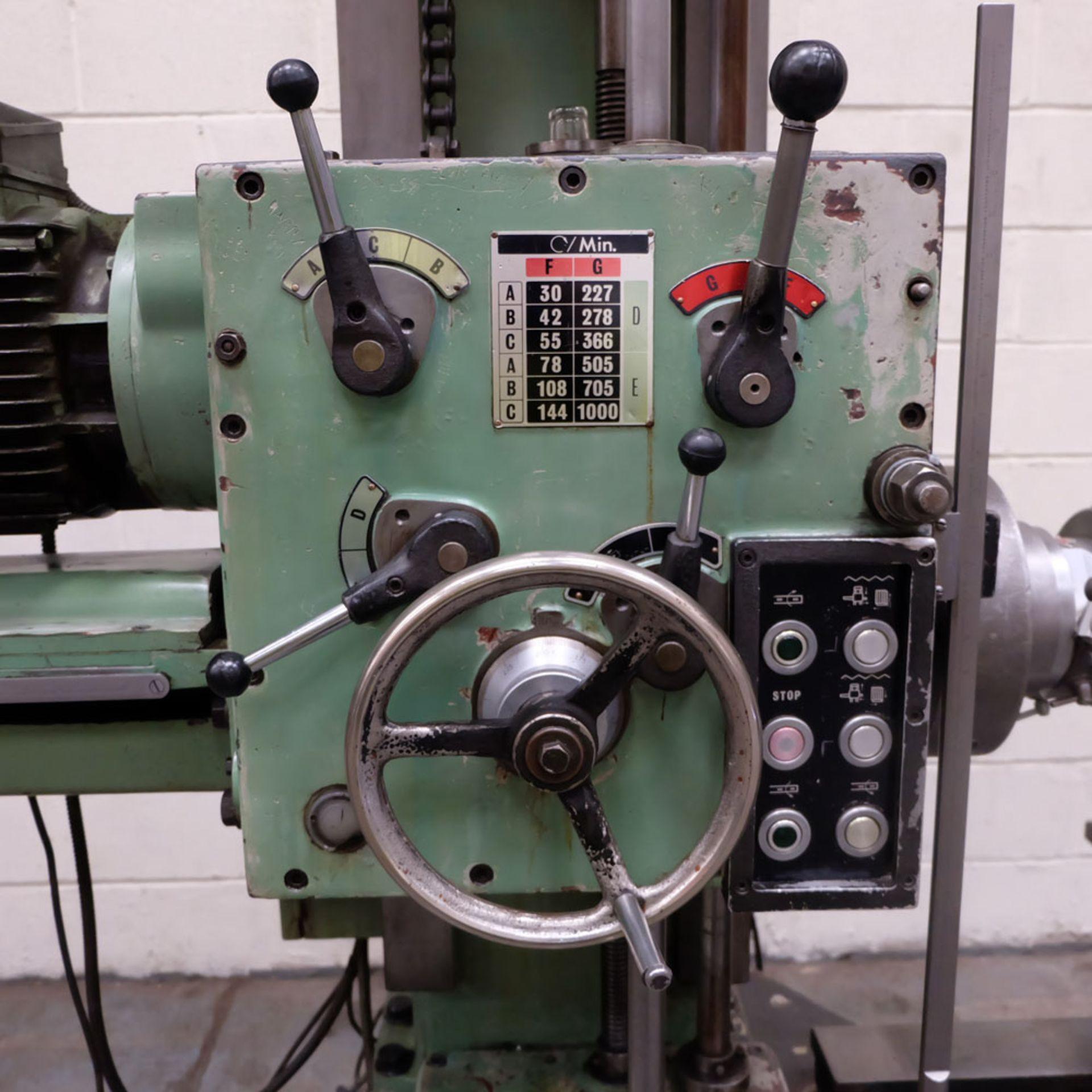 Juaristi Model MDR-55 Horizontal Boring Machine. Spindle Size: 55mm Dia. Spindle Bore: No.4 MT. - Image 7 of 14
