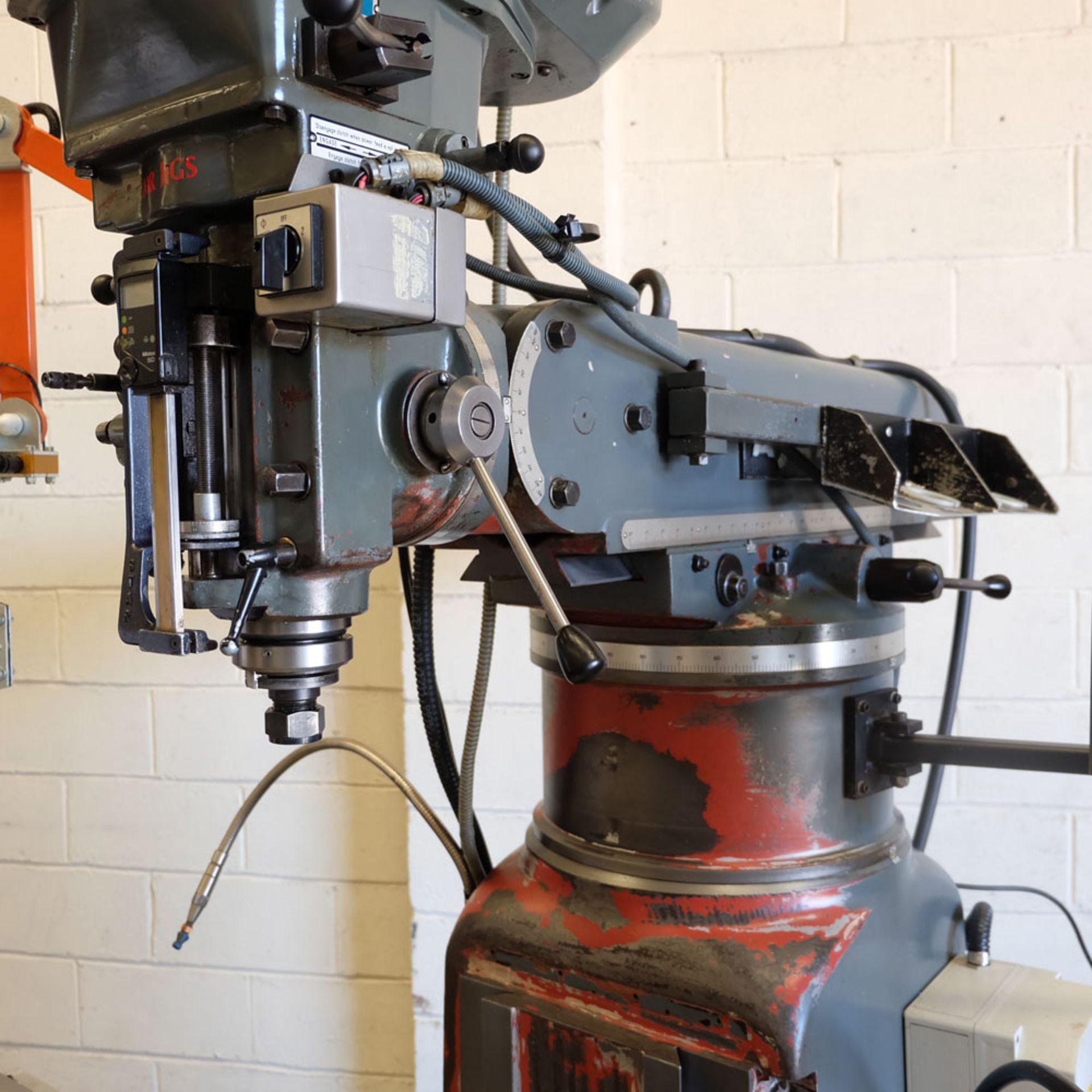 AJAX Model AJT.4 Turret Milling Machine. Table Size: 1372 x 280mm. - Image 4 of 8