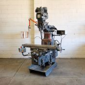 AJAX Model AJT.4 Turret Milling Machine. Table Size: 1372 x 280mm.