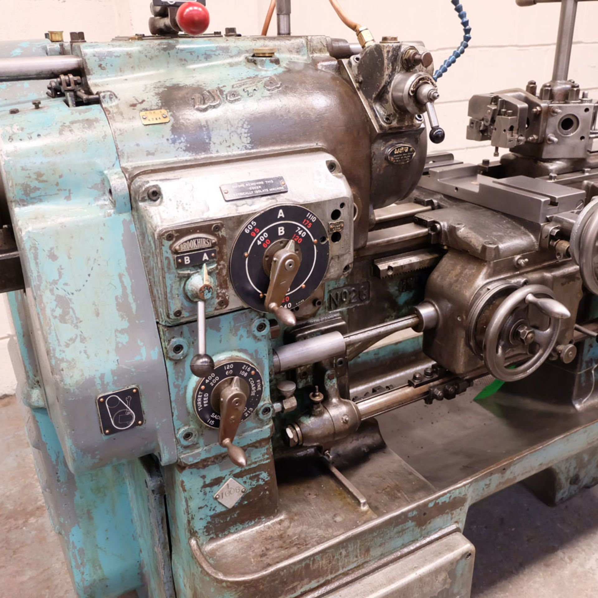 """Ward 2 C Capstan Lathe. With Collet Chuck. Swing Over Bed 12 3/4"""". - Image 2 of 6"""