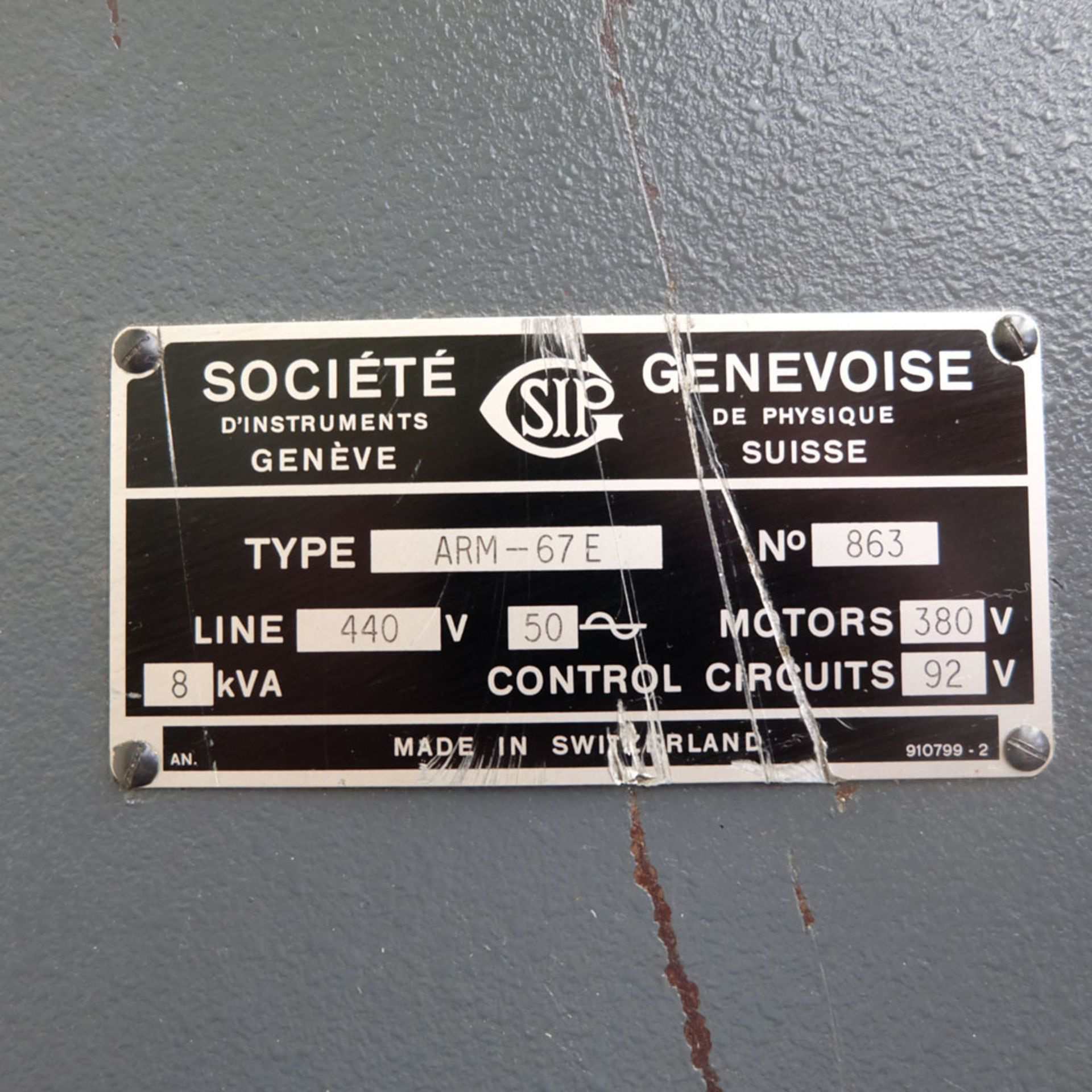 SIP Genevoise Hydroptic - 6A High Precision Jig Boring And Milling Machine. - Image 13 of 25