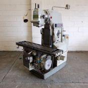 Kearney & Trecker Milwaukee 203-C12 Vertical Milling Machine with Swivel Head.