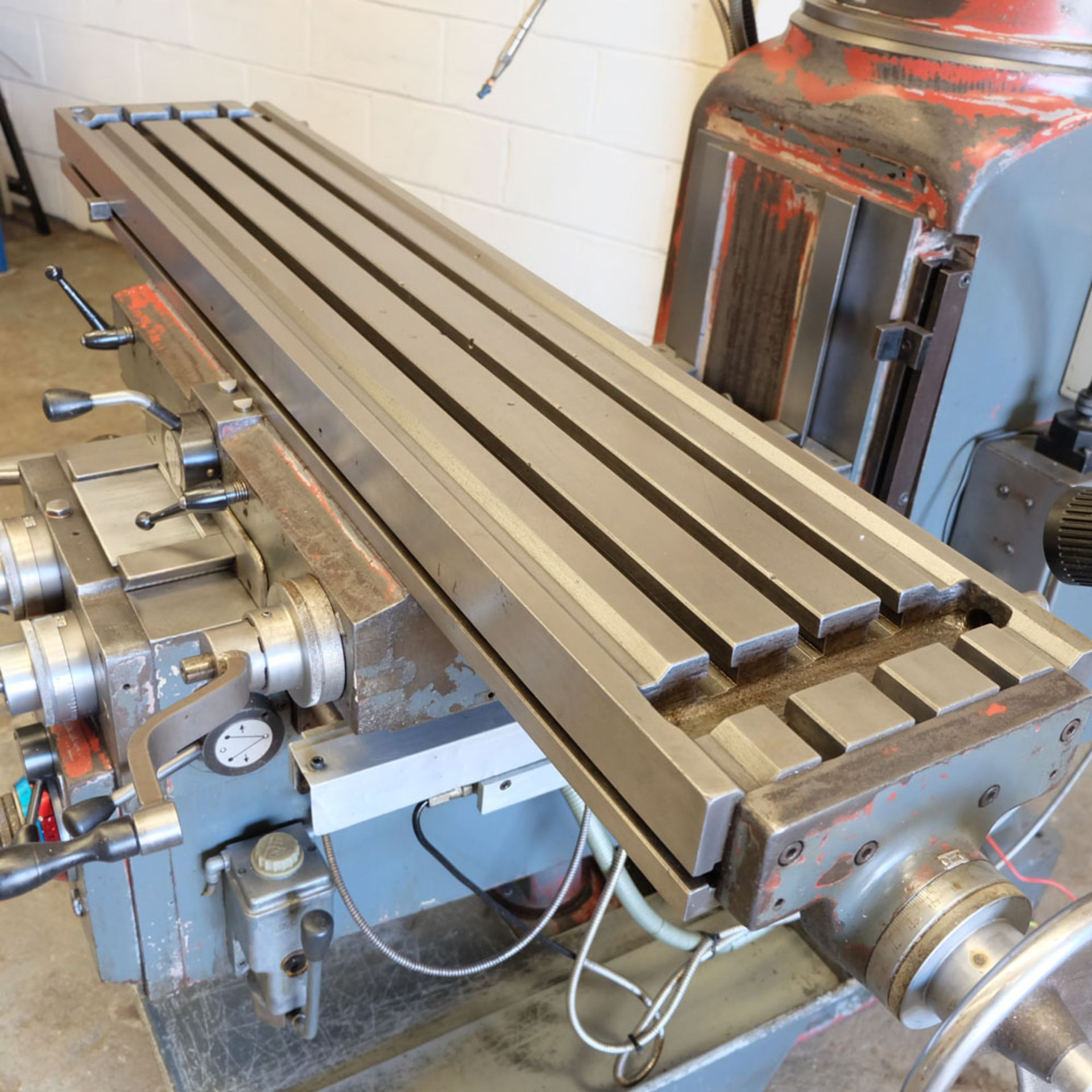 AJAX Model AJT.4 Turret Milling Machine. Table Size: 1372 x 280mm. - Image 2 of 8