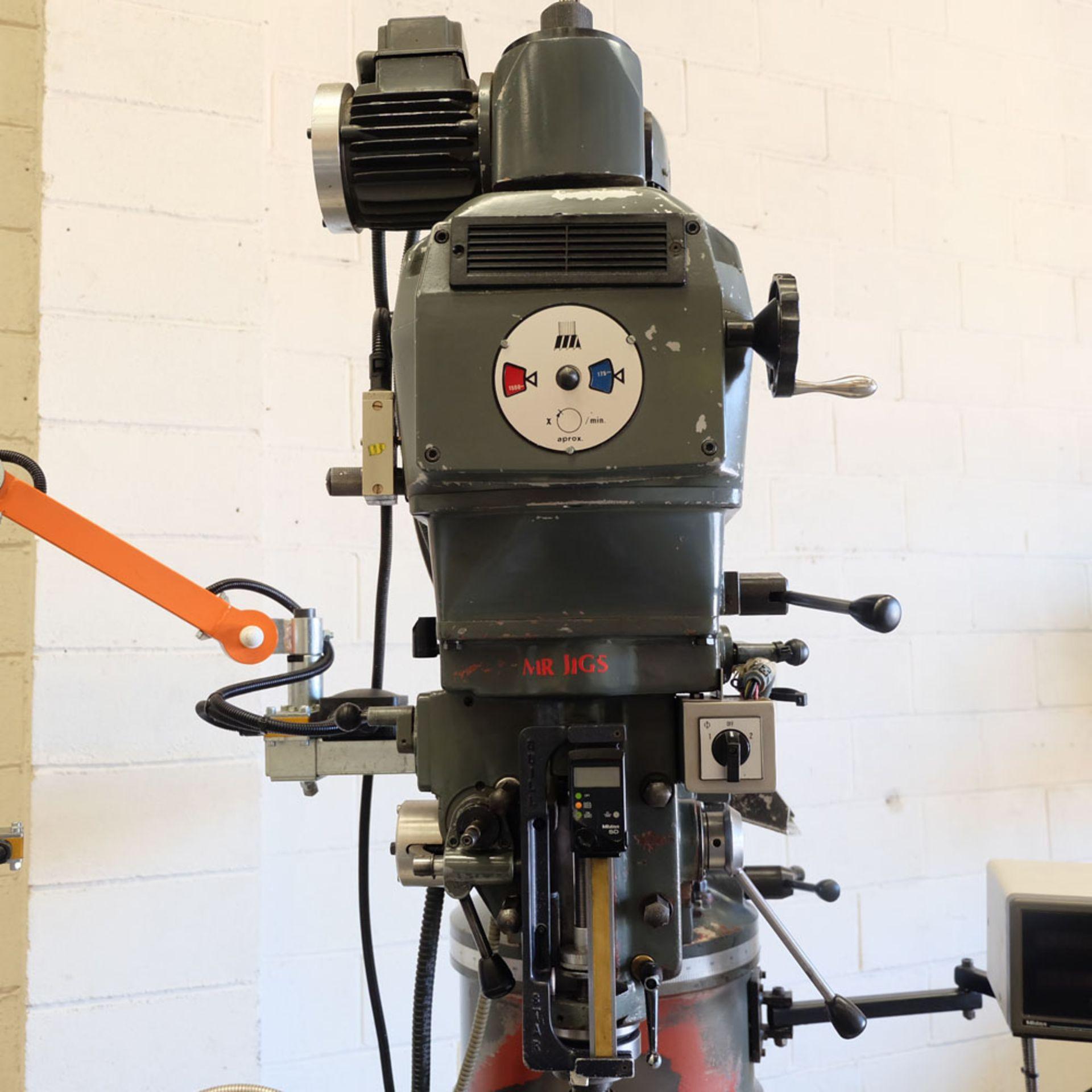 AJAX Model AJT.4 Turret Milling Machine. Table Size: 1372 x 280mm. - Image 3 of 8