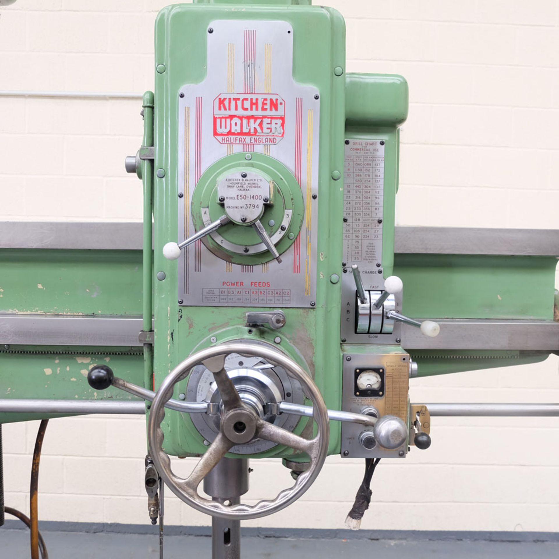 Kitchen-Walker Model E50-1400 4 1/2 FT Radial Alarm Drill. - Image 2 of 16