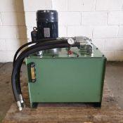 Oddy Hydraulics Ltd Type DRG No 73551. Hydraulic Power Pack. Max Pressure 17 BAR.