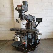 "KRV (XYZ) Model 3000 Turret Milling Machine. Size Of Table: 54"" x 12""."