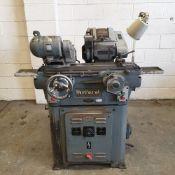 "Myford Manual Feed Cylindrical Grinding Machine. Capacity 5"" x 12"". Swivel Table. Workhead."