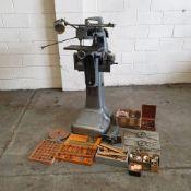Taylor Hobson Type D Engraving Machine. Cutter Speeds: 2730 - 18,000 RPM.