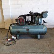 Ingersoll Rand Type 30 Model 71T. Twin Piston Garage Type Compressor. Motor HP 12.5.
