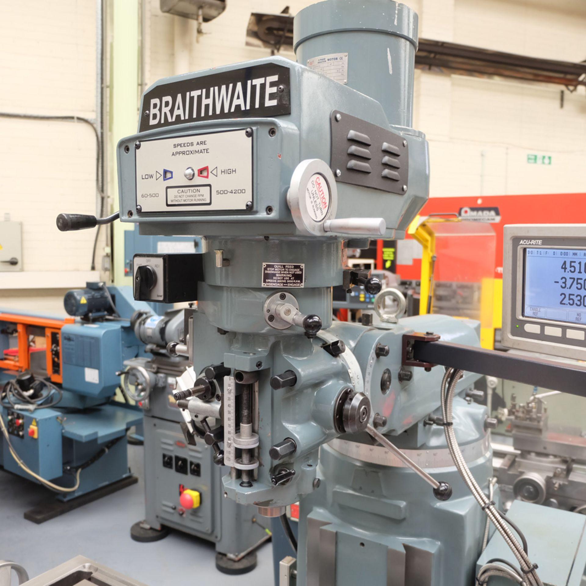 Braithwaite Model 6323B 3HP Vari Speed Turret Mill. - Image 2 of 20