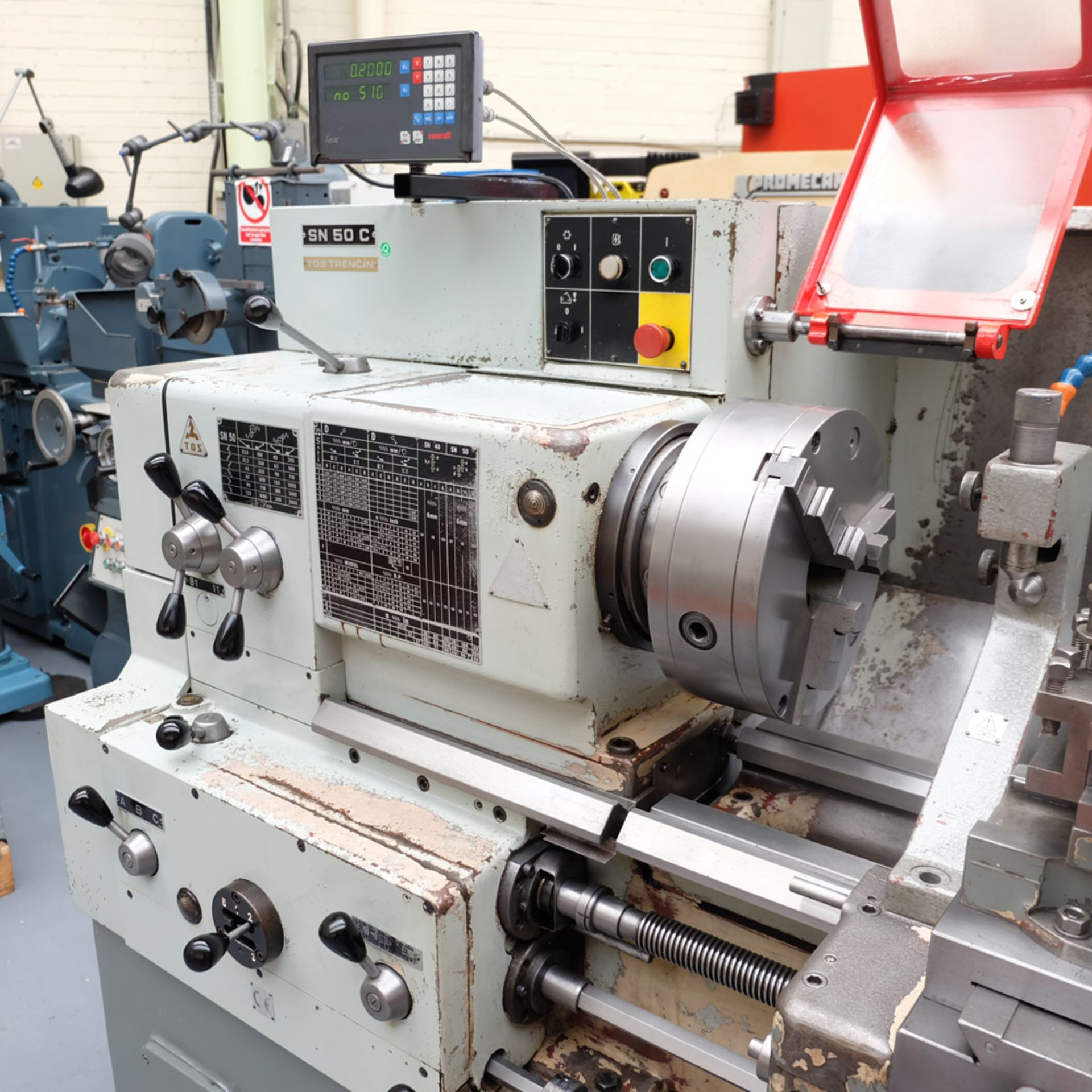 TOS SN 50C Gap Bed Centre Lathe. - Image 2 of 13