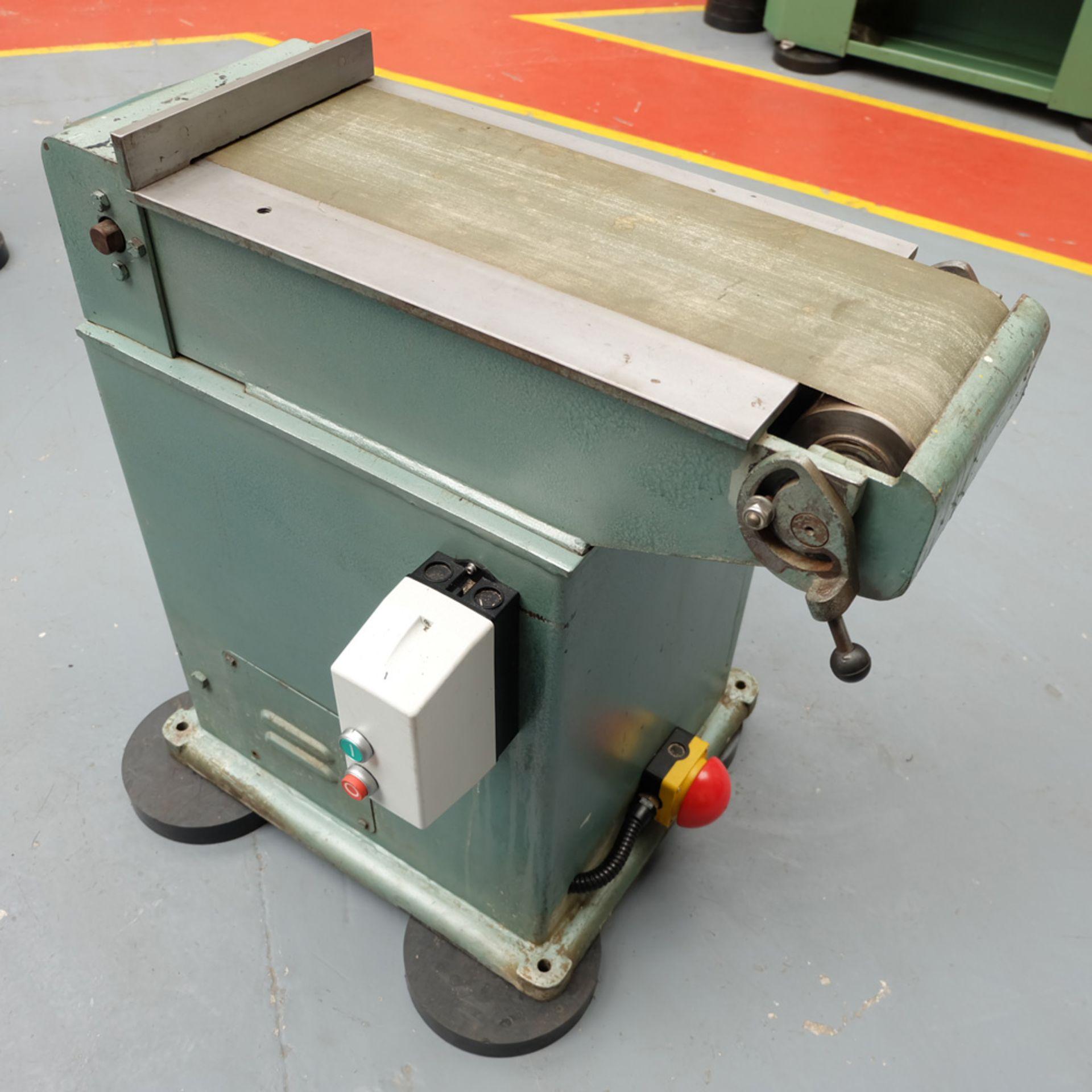 RJH Model 'Moose' Heavy Duty Horizontal Bandfacing / Linishing Machine. - Image 4 of 7