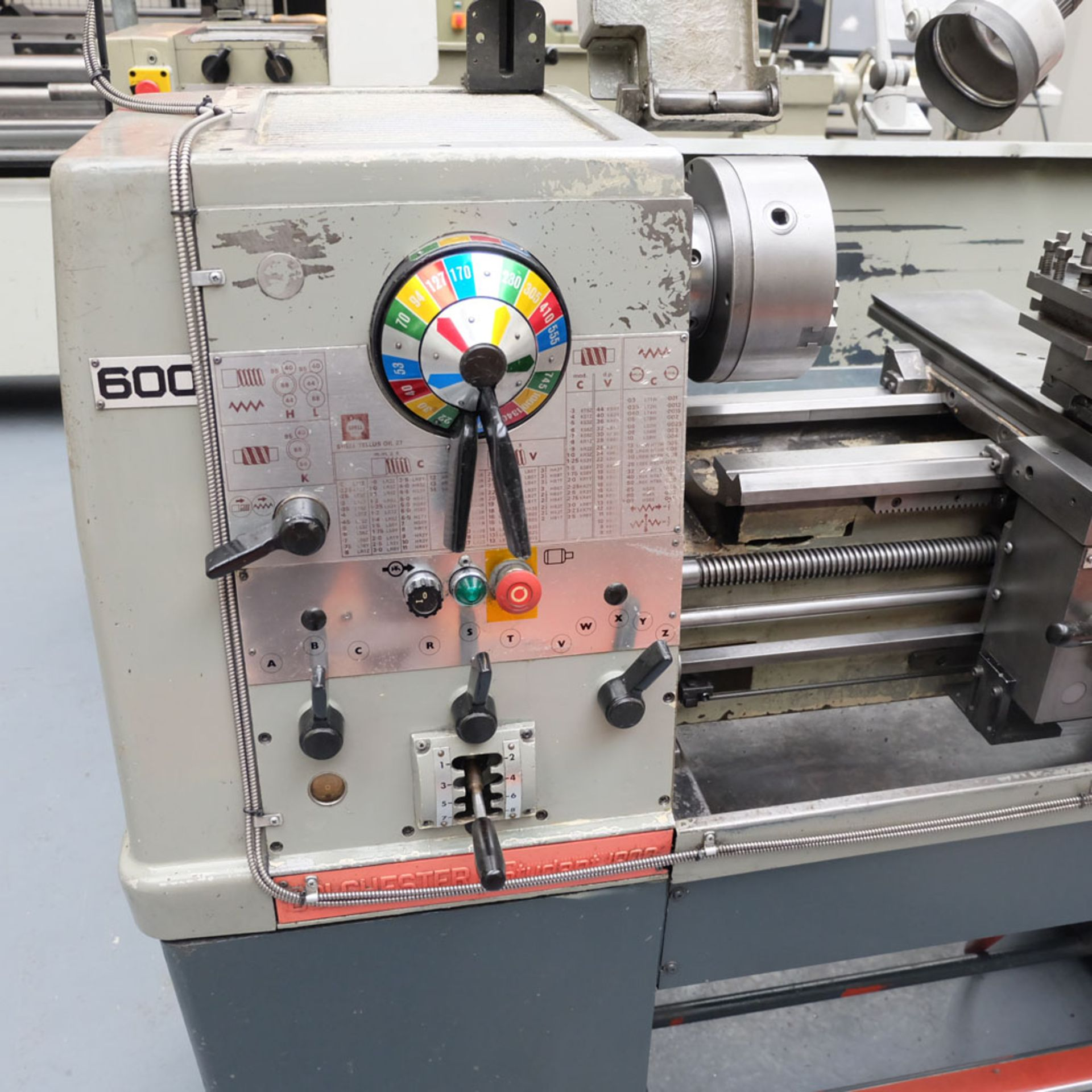Colchester Student 1800 Gap Bed Centre Lathe. - Image 3 of 8