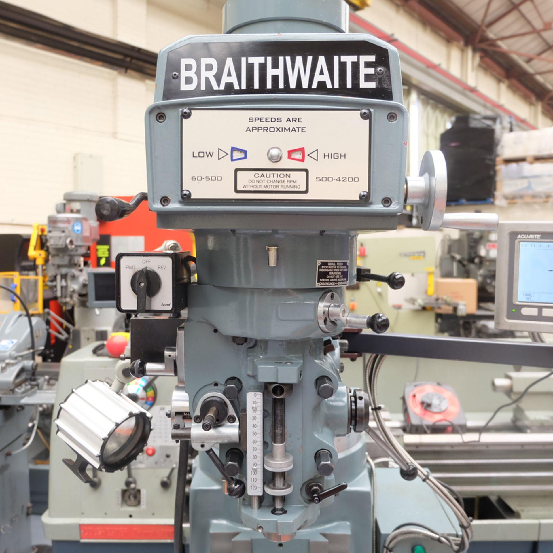 Braithwaite Model 6323B 3HP Vari Speed Turret Mill. - Image 4 of 20