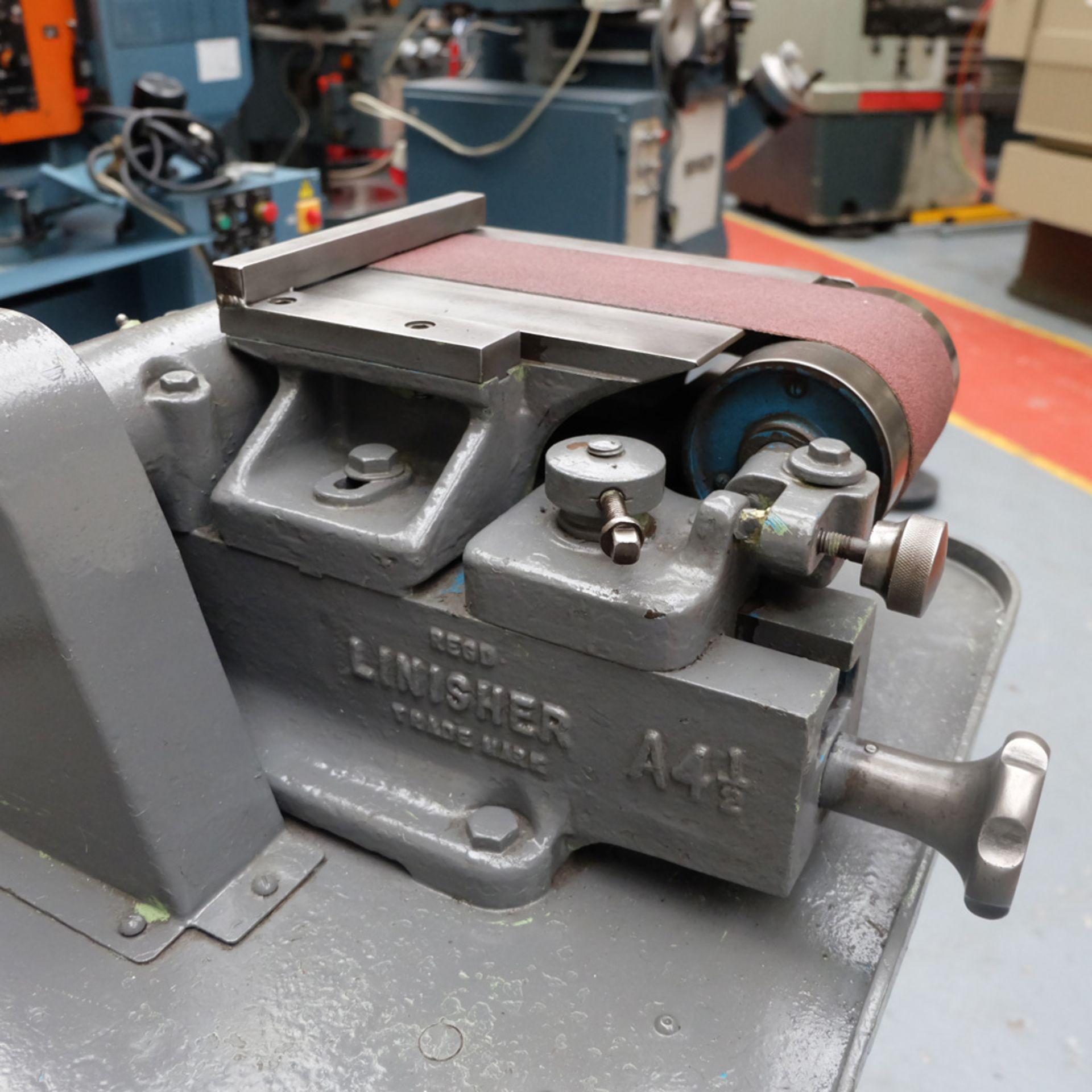 Morrisflex Model A4 1/2 Horizontal Linisher on Heavy Duty Steel Table. - Image 4 of 6