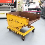 """Mobile Tipper Skip. Internal Size: 44"""" x 31"""". Depth: 20"""". Distance From Floor To Lip: 28 1/2""""."""