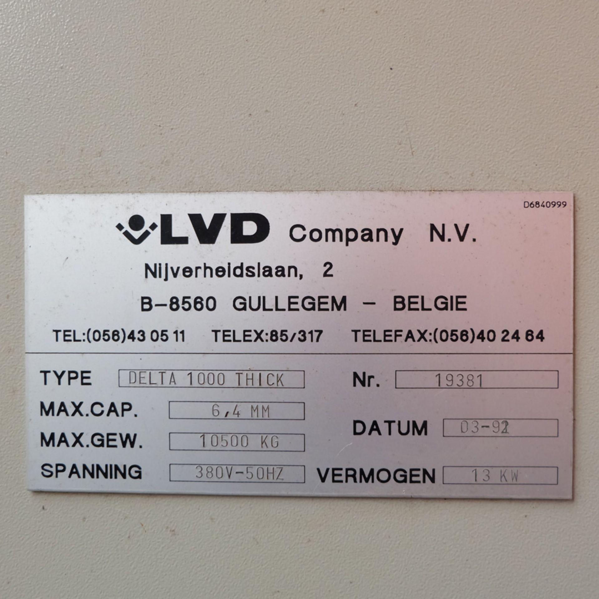 LVD Shape Delta 1000 Thick CNC Turret Punching Machine. - Image 13 of 18