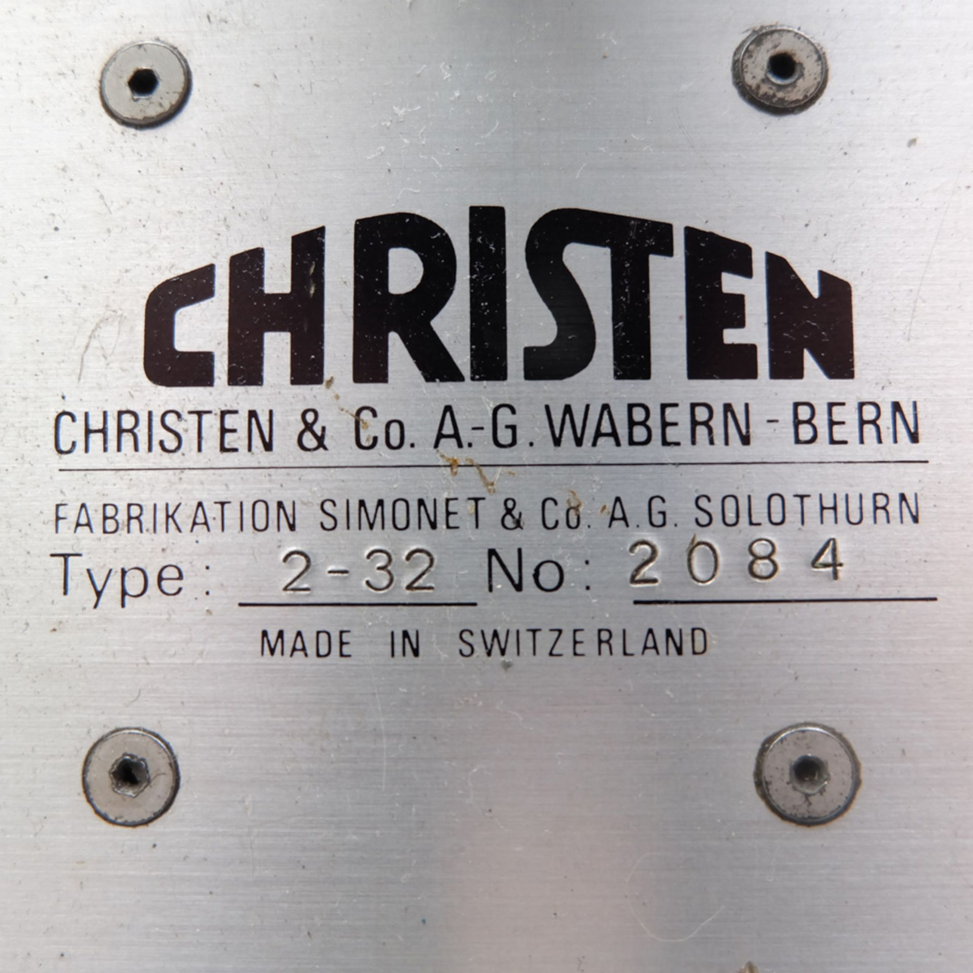 Christen Type 2-32 Twist Drill Grinding Machine. - Image 10 of 14